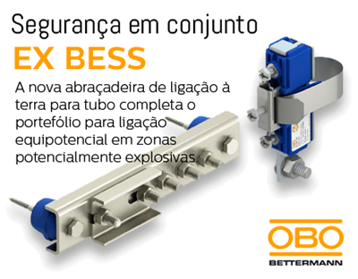Nova abraçadeira de ligação à terra EX BES da Obo Bettermann