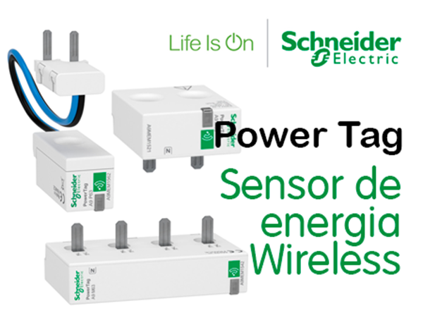 Sensor de energia Wireless Power Tag  da Schneider